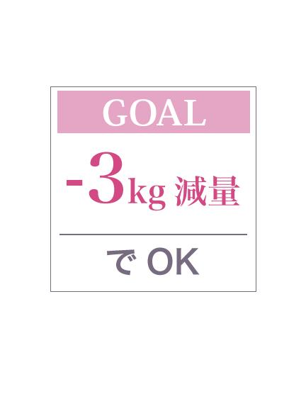 -3kg減量でOK